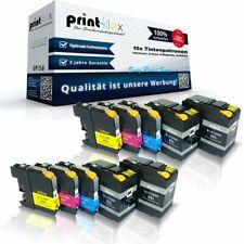 10x PREMIUM Cartuchos de tinta para Brother lc-12e XXL impresora Set - Easy