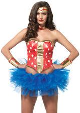 Sexy Wonder Woman Super Star Hero Kit Costume Halloween Party Comic-Con Costume