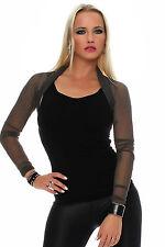 Bolero Black Gray Long Sleeve See-Through Evening Bolero Stand Collar