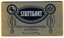 STUTTGART Ansichtskarten-Mäppchen * 10 AK u 1910