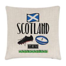Rugby Escocia Lino Cubierta para Cojín Almohada-Gracioso Liga Unión Bandera Sport