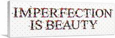 ARTCANVAS IMPERFECTION IS BEAUTY Girls Room Decor Canvas Art Print