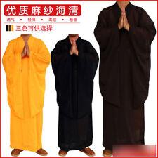 Shaolin Buddhist Monk Dress Meditation Haiqing Robe Kung fu Suit Men's Costumes