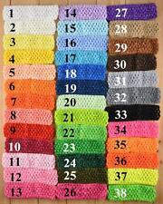 """Crochet Headbands Bandeau 1.5"""" 1.5 in (environ 3.81 cm) largeur 3 bandeaux par Lot"""