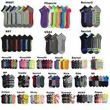 12 Pairs Lot Men Women Spandex Socks Multi Pattern Fashion Casual 9-11, 10-13