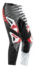 Thor Grey/Black/Red/White Phase Vented Rift Dirt Bike Mens & Youth Pants MX ATV
