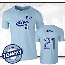 Man City David Silva #21 T-Shirt, Silva tshirt, man city tshirt