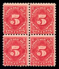 momen: US Stamps #J55 Block of 4 Mint OG NH F/VF