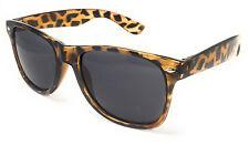 Tortoise Shell Print Classic Style Sunglasses Mens Ladies Fashion Black Lens