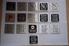 METALIC SELF ADHESIVE SIGNS FOR HOTEL, PUB, OFFICE, RESTAURANT, CAFE, B&B ETC..