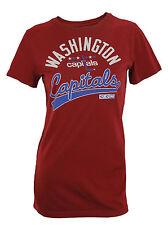 CCM NHL Hockey Women's Washington Capitals Short Sleeve Lifestyle Tee - Maroon