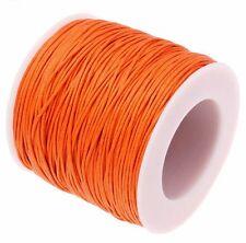 5m ou 10m Fil en Coton Ciré Orange Cordon coton cire, attache tetine, bijoux