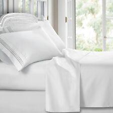 Luxury 1800 Series Clara Clark Bamboo Linen Bed Flat Fitted 4PC Sheet Set