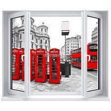 Adesivo clacson l'occhio finestra Cabina telefonica rosso Londra 5340