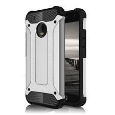 Handyhülle für Motorola Moto G5 Plus <SHARP SILVER> Hart Tasche Schale Cover TPU