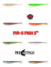 "Lunker City Fin-S Fish 5"" Softbait 12,5 cm / 10 Stück Gummiköder"