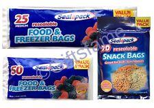 25 50 70 Fuerte Pequeño Grande Resellable Bolsas Reutilizables Ziplock Snack Food Congelador