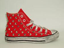 Converse all star Hi borchie scarpe  rosso - blu - grigio - nero artigianali