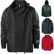 Mens Kariban Windbreaker Full Front Zip Colour Outdoor Fleece Lined Jacket Top