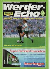 BL 91/92 SV Werder Bremen - VfL Bochum
