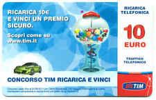 VINCI SICURO RICARICA TELEFONICA TIM  10 EURO GIU 2013