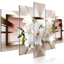 Wandbilder xxl Blumen Lilien Abstrakt Leinwand Bilder Wohnzimmer b-A-0364-b-m