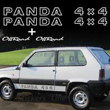 Adesivi PANDA 4X4 scritte adesive sottoporta sportelli adesivo fiat off road