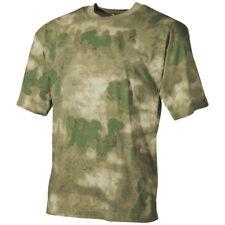 MFH T-Shirt Hombre Combate Táctico Ejército Trabajo 100% Algodón HDT Camo FG