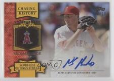 2013 Topps Chasing History Autograph Gold CHA-NM Nick Maronde Auto Baseball Card