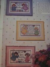 3 Guardian Angel Designs Nursery Baby Child Magazine Cross Stitch Pattern (C)