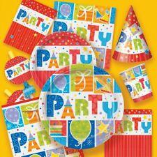 Party Deko bunt neutral Geburtstag Kindergeburtstag Gartenparty Grillparty Set