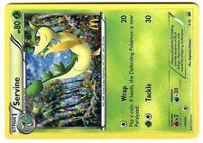 PROMO POKEMON MAC DO 2012 MCDONALD'S W&B CARD HOLO N°  1/12 SERVINE