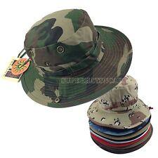 UPF-UV 50 Bucket Boonie Hunting Fishing Outdoor Safari Washed Cotton Cap Hat
