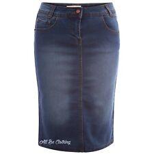 Flash Sale !!!! Womens/Ladies Denim Pencil Stretch Tube Skirt  6 8 10 12 14 16