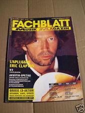 FACHBLATT MUSIK MAGAZIN AUGUST  1992 - ERIC CLAPTON
