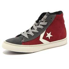 4942U sneaker bimbo CONVERSE bordeaux/grigio scarpa shoe kid