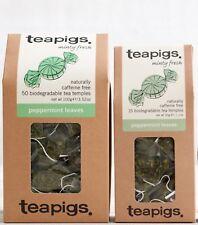Peppermint Tea Bags - Tea Pigs Biodegradable Tea Temples - Peppermint Tea 15/50