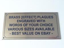 Brass [Effect] Plaque/Sign/Plate/Bench/Pet/Door/Shed/Caravan Memorial Engraved