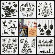 Layering Christmas Stencils Window Painting Bullet Journal Template Scrapbooking