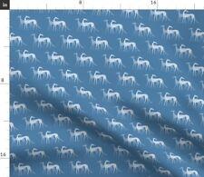 Galgo Sighthound Dog Windhund Greyhound Fabric Printed by Spoonflower BTY