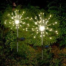 Solar Powered 90/120LED Dandelion Style Light String Waterproof Ground Lamp UK