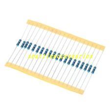 100pcs 1/2W 0.5 Watt Metal Film Resistor ±1% 1M 1K-910K ohm Ω