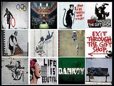 A3 / A4 Size Choice of * BANKSY GRAFFITI STREET ART * Print Wall Decoration  #4
