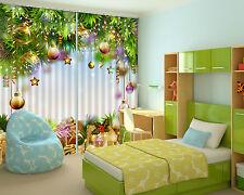 3D Weihnachten 515 Blockade Foto Vorhang Druckvorhang Vorhänge Stoff Fenster DE