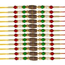 1/6/12 pcs Rakhi Thread Raksha Bandhan Hindu Indian Festival Wrist Band Rakhadi