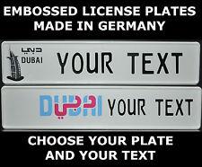 Dubai Arab Arabic UAE U.A.E Euro License Plate European Number Plate Custom Alu