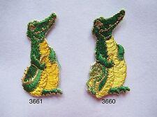 #3660 Crocodile w/Crocodile Baby Embroidery Iron On Applique Patch