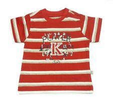 Kanz manga corta camiseta niños con rayas rojas Talla 56 62 68 74 80 86