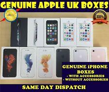Apple iPhone 5 5 S SE 6 6 S 7 boîte vide avec ou sans accessoires