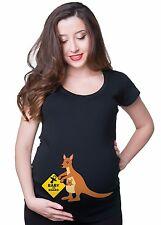 Kangaroo Baby On Board T Shirts Mom Funny Maternity T Shirt Gift Tee Baby Shower